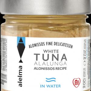 Baltasis Aloniso tunas vandenyje