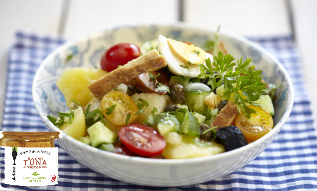 Bulvių salotos su tunu